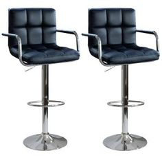 AmeriHome, Modern 45 in. Bar Stool in Black (Set of 2), 800975 at The Home Depot - Mobile