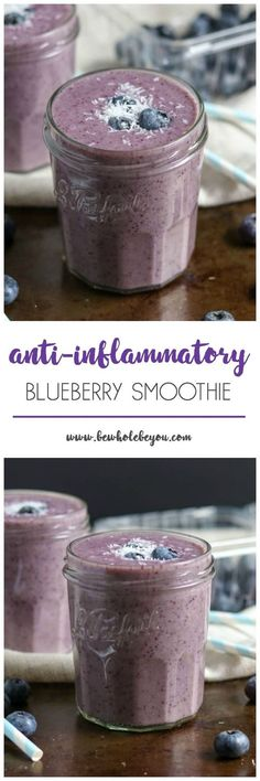 Fight inflammation in the most delicious way! This blueberry smoothie is packed with ingredients that help your body naturally fight inflammation. And it also has a nice spicy kick you will enjoy! www.bewholebeyou.com