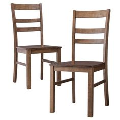 Threshold™ Gladstone Ladder Back Dining Chair Chestnut - Set of 2. like the style, but the color is too light.