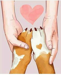 dog art, hands and paws Iphone Wallpaper Cat, Dog Wallpaper, I Love Dogs, Cute Dogs, Animals And Pets, Cute Animals, Dog Illustration, Dog Quotes, Dog Art