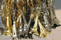 Eiffel tower key rings
