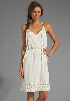 VELVET BY GRAHAM & SPENCER Jo Sheer Dobby Lace Dress in Cream at Revolve Clothing - Free Shipping!
