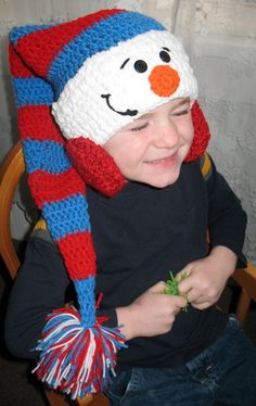Just Chillin' Snowman Stocking Cap $25.00 created by The 3 Season Porch