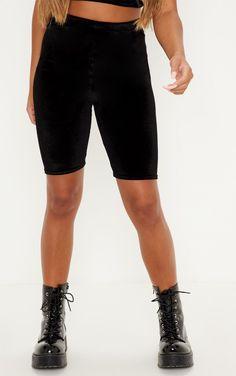 The Black Velvet Cycle Short. Head online and shop this season's range of shorts at PrettyLittleThing. Cycling Shorts, Black Velvet, Bermuda Shorts, Shopping, Fashion, Moda, Fasion, Trendy Fashion, Cycling Tights