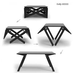 MK1 Transforming Coffee Table by Duffy London (transforms from a coffee table into a small dining table; perfect for a smaller space!)