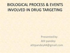Biological process and events in drug targeting by atitpandey via authorSTREAM