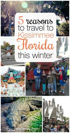 5 Reasons to Travel to Kissimmee Florida this winter - sunshine, adventure, and family fun - it really is the perfect place for a family vacation! [ad]