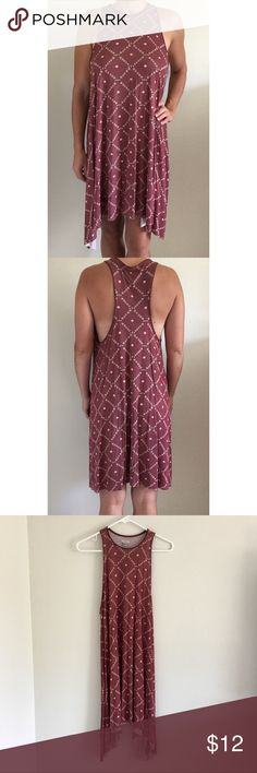 Urban Outfitters Swing High Neck Dress Ecote maroon high neck swing dress from Urban Outfitters. Worn only once; excellent condition. Urban Outfitters Dresses