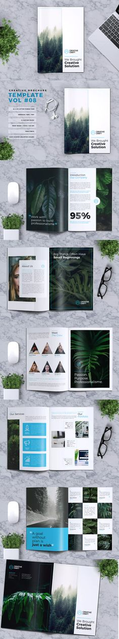 Creative Brochure Template InDesign INDD - & US Letter Size - Graphic Templates Search Engine Book Design, Layout Design, Print Design, Web Design, Design Ideas, Brochure Layout, Brochure Design, Brochure Template, Stationery Printing