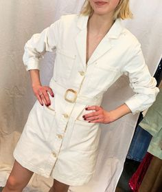 ASOS's spring collection has arrived, and these are the 5 looks our editorial team is already trying out and recommending. See their top ASOS tips here. White Denim Dress, All White Outfit, White Outfits, Bikini Outfits, Dress Outfits, Fashion Dresses, Asos Dress, Who What Wear, Spring Outfits