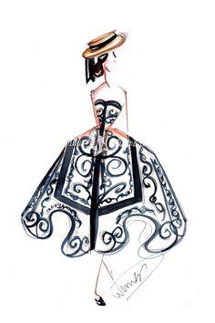 Fashion illustration Fashion sketch by DorinusIllustrations