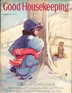 GROUNDHOGS DAY! Good Houskeeping cover, February 1935 - Vernon Thomas
