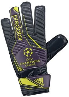 Adidas Predator Young Pro UCL Goalie Glove (Tech Onix Grey/Dark Violet/Lab Lime, 8.5) by adidas. $7.10. An excellent glove for beginners and youth players. Soft grip latex palm offers good grip and durability in all weather conditions. Vented cuff slit-wrist closure for expanded freedom of movement and easy entry. EVA backhand for good symbiosis of softness, durability and shock absorption. 15% latex extension for increased grip zone. Keeper Gloves, Portiere, Goalie Gloves, Adidas Predator, Easy Entry, Goalkeeper, Good Grips, Champions League, Weather Conditions