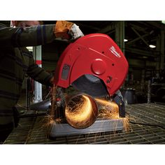 The Milwaukee® 14in. Abrasive Chop Saw's powerful 15 Amp, 4.0 max. horsepower motor delivers legendary durability and performance. With speeds up to 3900 RPM, the saw enables fast cutting of drywall track in bundles, angle iron, conduit, pipe, channels, tubing, and rebar up to a 5in. max. capacity.