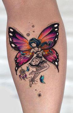 Mädchen Tattoo, Mom Tattoos, Back Tattoos, Cute Tattoos, Celtic Tattoos, Star Tattoos, New Tattoo Designs, Fairy Tattoo Designs, Tattoo Designs For Women