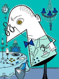 The beautiful Melinda Beck illustration. Graphic Design Illustration, Illustration Art, Epicurious Recipes, My Cup Of Tea, Flat Color, My Room, Illustrators, Web Design, Cartoon