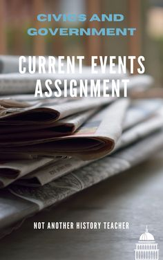 Get your students involved in current events with this current event assignment! With this assignment, they research one current event from two news sources: one from the right and left source using a website called All Sides. They compare how the same topic can be biased and persuasive. There is a rubric to make grading easier. Each student is assigned one week a marking period. We share and discuss current events every Friday. My student actually look forward to current events every week!