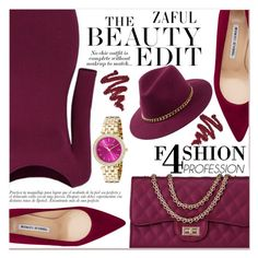 """www.zaful.com/?lkid=7011"" by lucky-1990 ❤ liked on Polyvore featuring Manolo Blahnik and Michael Kors"