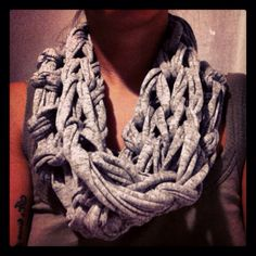Arm knitting cotton scarf,i love it!!!