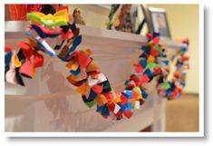 DIY Anthropologie inspired felt bow garland