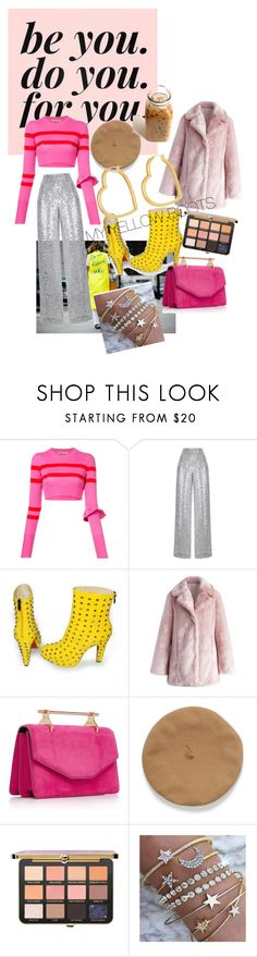 """MY YELLOW BOOTS"" by anastasiafaithfilipic ❤ liked on Polyvore featuring Mira Mikati, Maggie Marilyn, Rasario, Olsenhaus, Chicwish, Henri Bendel, yellowboots and yellowmellow"