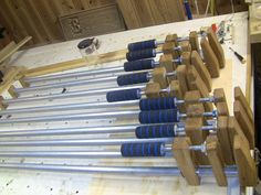 Shopmade Bar/Pipe clamps - by corydoras @ LumberJocks.com ~ woodworking community