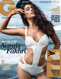 Nargis Fakhri on The Cover of GQ Magazine - April 2013.
