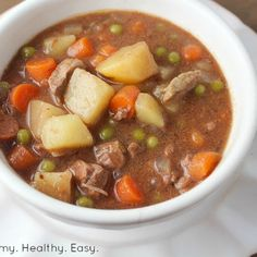 Simple Crock Pot Beef Stew is comfort food the whole family will love.