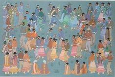 Painting by Harrison (Haskay Yahne Yah) Begay (Navajo), 1914-2012