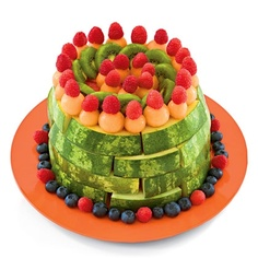 Fruit cake - cute healthy option for football parties