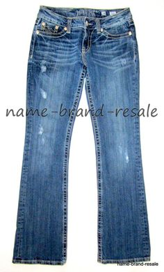 941df6c0165 MISS ME Sunny Boot Jeans Womens 28 x 33 Tall Long Distressed Ripped Bootcut   MissMe