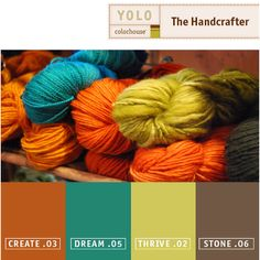 color inspiration | fall I love the vibrant colors of the yarn, especially the cerulean and orange