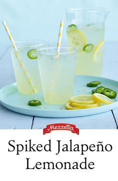 Nothing says summer like an ice cold glass of lemonade. We kicked it up a Mezzetta notch by adding jalapeño and a little vodka. Learn how to get the party started!