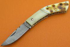 100% Handmade & Forged Sana Cutlery Damascus Steel Flamed
