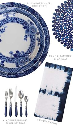 Bring the Mediterranean inspiration into your home with indigo dyed textiles, artisan dinnerware, and deep beautiful blue dinnerware, decor and furniture.