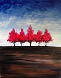 """Trees in the Distance"" created for Paint Nite by Gabriel Nazareta"