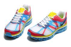 low priced 3b1a5 eb4a6 Nike Air Max 2012 Men White Rainbow Breathable Gauze Running Shoes 1027  70 Nike  Air Max