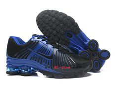 online store 4e30e ffd36 Nouveau Nike Air Shox nz Pas Cher Coussin De Sport Basketball Homme Bleu  noir-1903061518
