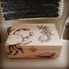 teabox with woodburned details