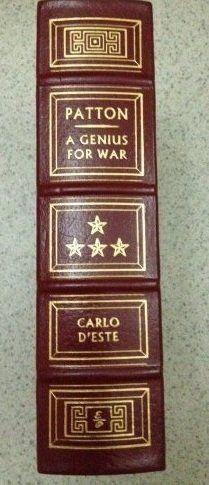 Patton: a Genius for War Hardcover – January 1, 1999 by Carlo. D'Este (Author)   http://www.amazon.com/gp/product/B001LN2XS2/ref=as_li_tl?ie=UTF8&camp=1789&creative=390957&creativeASIN=B001LN2XS2&linkCode=as2&tag=manipubloffiw-20&linkId=6CAVIUBAMBF2AFJU