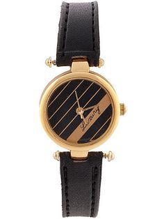 Black and Gold watch.