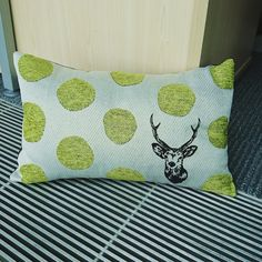 our awesome kokka jacquard in cushion form!