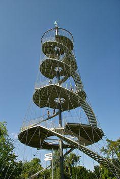 Killesberg observation tower in Stuttgart by Jörg Schlaich