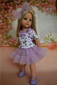 Костюм для куколки Готц или аналогичной по размерам. / Одежда для кукол / Шопик. Продать купить куклу / Бэйбики. Куклы фото. Одежда для кукол Sewing Doll Clothes, Sewing Dolls, Girl Doll Clothes, Pretty Dolls, Beautiful Dolls, Wellie Wishers Dolls, Baby Dress Design, Gotz Dolls, Madame Alexander Dolls