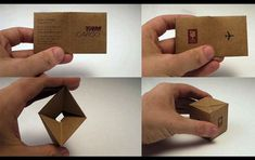Love this idea! Give your audience something to 'do' with your business card that relates to your core business.
