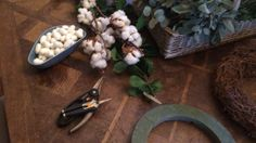 Cotton from the florist is so great to use as decor over the festive season
