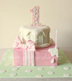 Pink & Mint Present Cake