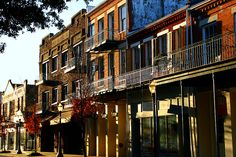 Dauphin Street in Mobile, Alabama; one of the more overlooked cities in the South