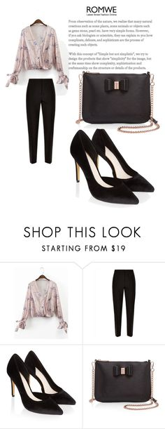 """ROMWE"" by dilruha ❤ liked on Polyvore featuring Jaeger, Monsoon and Ted Baker"