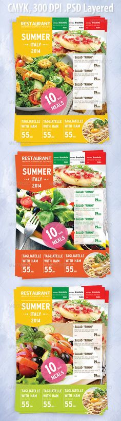 Summer Italian Menu Flyer Template PSD | Buy and Download: http://graphicriver.net/item/summer-italian-menu-template/8389704?WT.ac=category_thumb&WT.z_author=Kreatorr&ref=ksioks